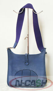 SOLD-Authentic-3050-Hermes-2006-Evelyne-PM-in-Blue-Sapphire-Clemence-SHW