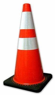 2850-7-MM 28 In. Orange Safety Traffic Cones W/4 & 6″ 3M Reflective Collar 8/Pkg Business & Industrial