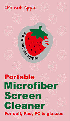 Portable Microfiber Screen Cleaner for Phone,Tablets,Glasses &more -'Strawberry'