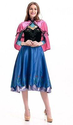 Deluxe Kostüm - Eiskönigin Frozen Anna auf Reisen Modell 2 - Märchen Anna - Reisen Kostüm