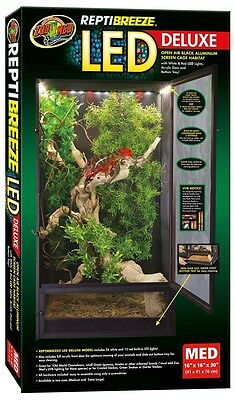 Zoo Med ReptiBreeze LED Deluxe Screen Cage 16X16X30 Medium