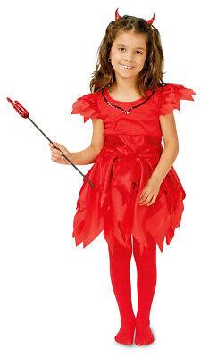 Teufelin Samira Kostüm für Mädchen Kinder Teufelskostüm Kleid 116-152 %SALE%