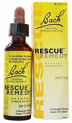 Bach Original Flower Remedies RESCUE REMEDY Drops - 20 ml NATURAL STRESS - Bach Rescue Remedy