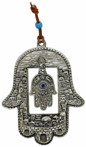 Hamsa Wall Hanging - Jerusalem - Judaica House Protection from the Evil Eye
