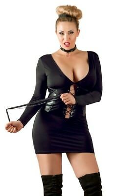 DRESS PLUS SIZE GERMANY DOMINATRIX OUTFIT, WHIP PLUS COLLAR BLACK XL-4X-LARGE (Plus Size Dominatrix Outfits)