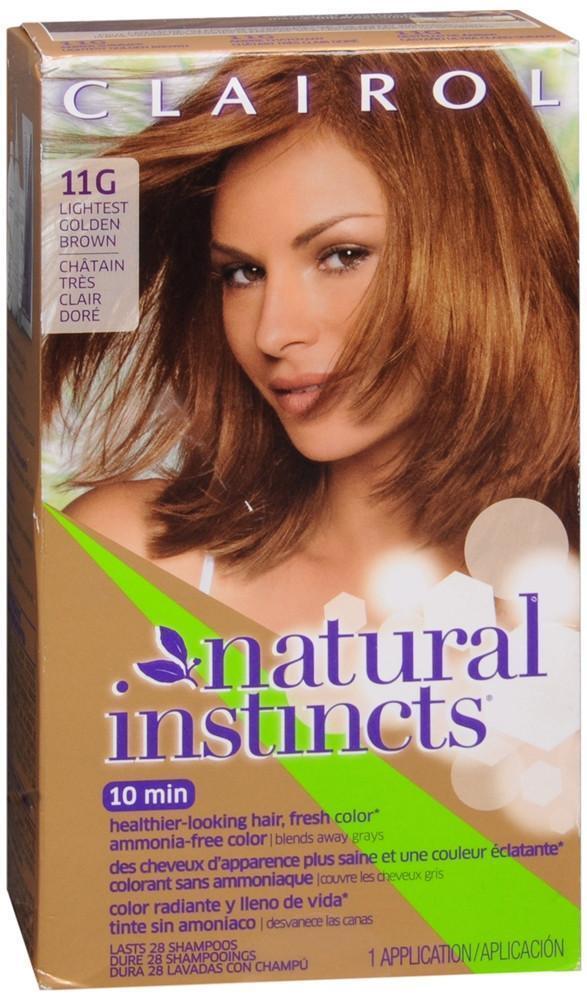 Clairol Natural Instincts Hair Color 11g Amber Shimmer Lightest Golden Brown Ebay