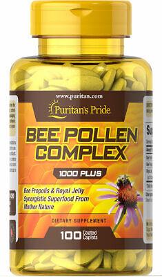 Puritan's Pride Bee Pollen Complex 1000 mg - 100 Caplets