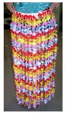 BUY 1 GET 1 FREE ADULT SIZE FLOWERED HULA SKIRT hawaiian luau party W FLOWERS
