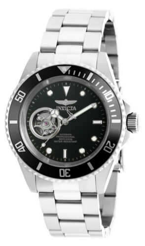 $79.99 - Invicta 20433 Men's Round Black Automatic Analog Stainless Steel Watch