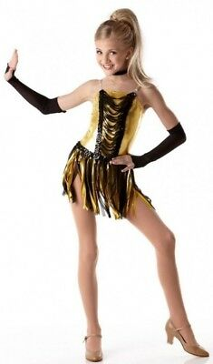 Shake with Mitts Dance Costume Skirted Leotard Baton Clearance Child Large](Shake Costume)