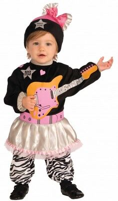 Li'l Rock Star 80er Jahre Mädchen Kostüm für Kleinkinder Kinderkostüm Kinder