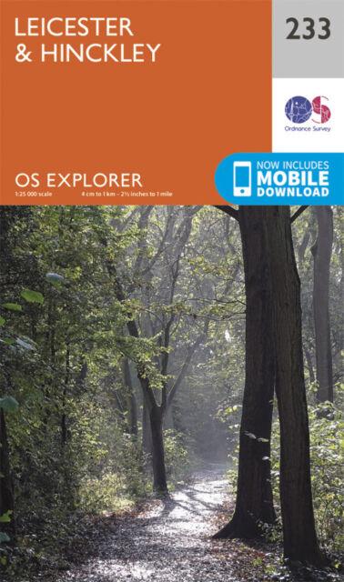Leicester and Hinckley Explorer Map 233 Ordnance Survey