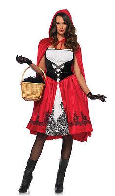 Classic Rotkäppchen Damenkostüm Deluxe NEU - Damen Karneval Fasching Verkleidung