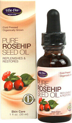 Pure Rosehip Seed Oil Organic, Life Flo, 1 oz Organic Pure Life