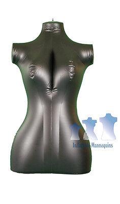 Inflatable Mannequin Female Torso Mid-size Black