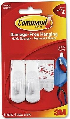 Command Damage Free Hanging, Small Hooks with Adhesive Strip 2 ea
