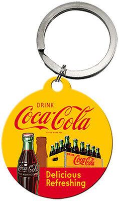 Schlüsselanhänger - Coca-Cola In Bottles Yellow, 4 cm
