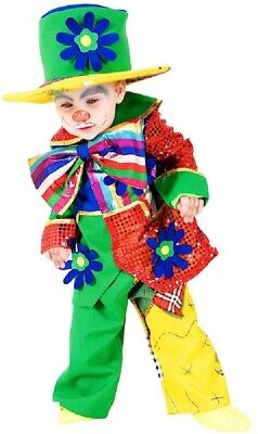 Italian Made Baby & Older Boys Girls Circus Clown Fancy Dress Costume Outfit