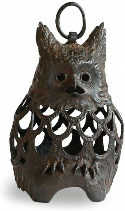 Toro Japanese Bronze Hanging Lantern Takaoka Craft Fukuro Owl motif Japan