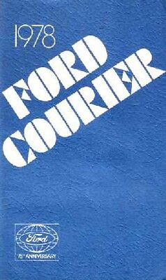 1978 Ford Courier Truck Owners Manual User Guide Reference Operator Book Fuses
