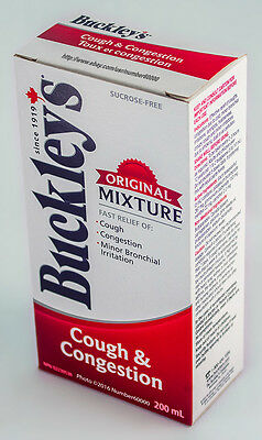 Buckleys Cough   Congestion Syrup 200Ml  6 8Oz  Canadian