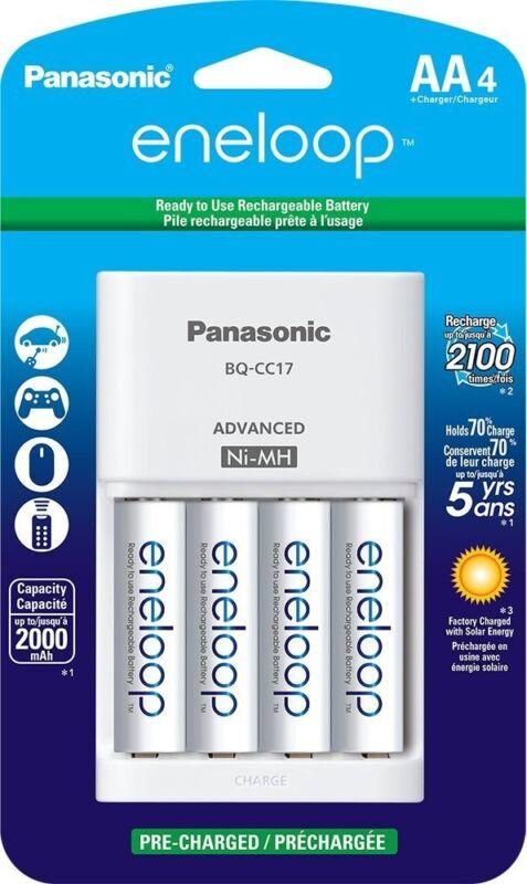 Panasonic Eneloop AA NiMH Charger with 4 AA Batteries