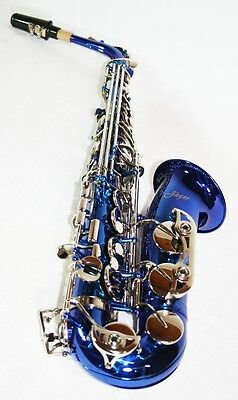 Neu: blaues Alt Saxophon Eb + ABS Koffer & Zubehör
