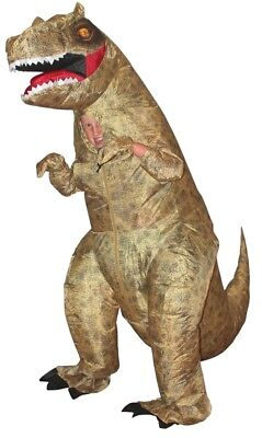 T-Rex Dinosaurier Aufblasbar Kinder-Kostüm Lustig Halloween Morph Suits (Lustige T Rex Kostüm)