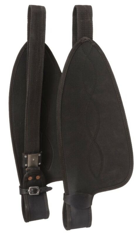 """Western Saddle Synthetic Replacement Fenders - Youth Size - 18"""" - Black"""