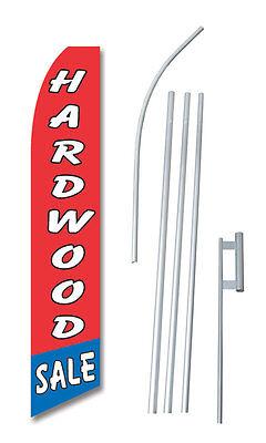 Hardwood Sale Tall Advertising Banner Flag Complete Sign Kit 2.5 Feet Wide