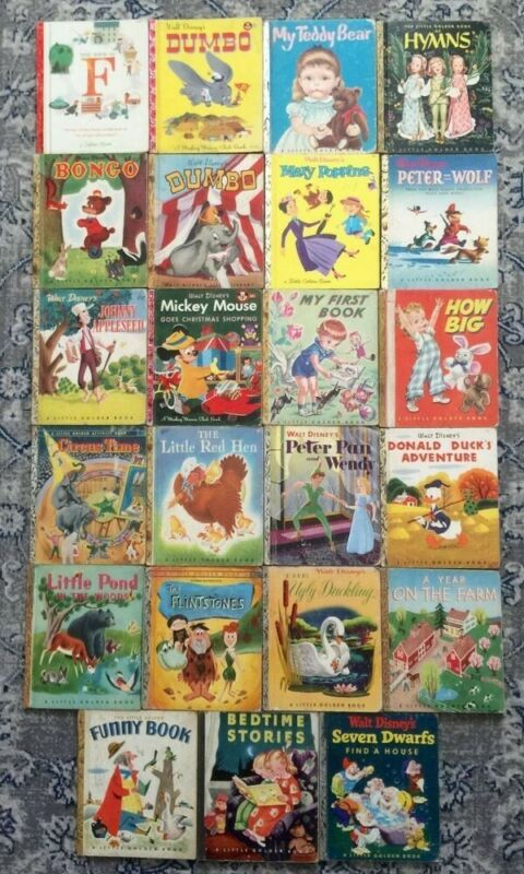 Lot of 10 A Little Golden Vintage Walt Disney Classic Kids Books MIX UNSORTED