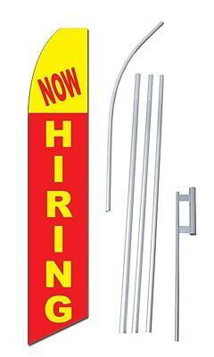 Now Hiring Complete 15 Kit Swooper Feather Flutter Banner Sign Flag