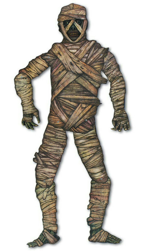 Vintage Beistle 1995 Jointed Mummy Halloween Party Wall Decoration
