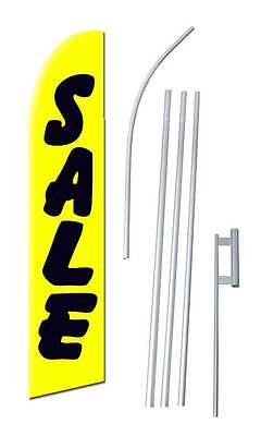 Complete 15 Sale In Yellow Kit Swooper Feather Flutter Banner Sign Flag