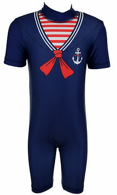 BOYS SWIMSUIT SUN SAFE SAILOR SWIMMING COSTUME EX STORE 1-5Y NEW](Good Costume Stores)