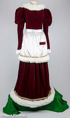 Santa's Helper Mrs. Santa Velvet Dress Apron Christmas - Velvet Holiday Dress Kostüme