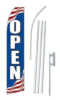 Open Flag Flutter Feather Banner Swooper Bundle Kit Patriotic