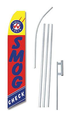 Complete 15 Smog Check Kit Swooper Feather Flutter Banner Sign Flag