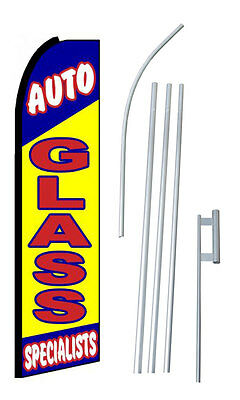 Auto Glass Specialists Extra Wide Swooper Flag Kit