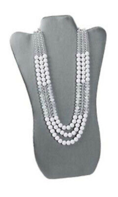 Tall Necklace Display Easel In Gray 8.75 W X 14 L Inches