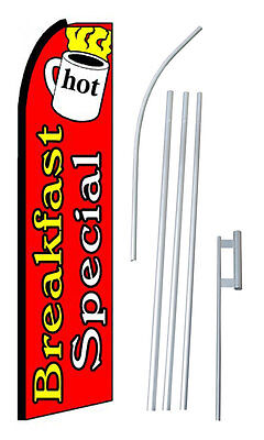Breakfast Special Red Extra Wide Swooper Flag Kit