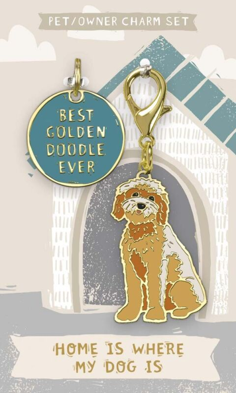 Goldendoodle Collar Tag and Charm Set