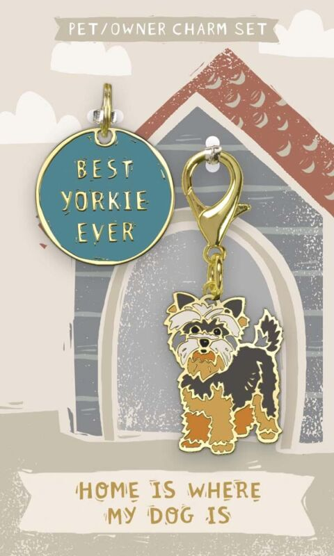 Yorkie Collar Tag and Charm Set