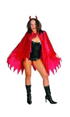 Teufelskostüm Umhang und Teufelshörner Halloween Karneval Party Gruppen Kostüm