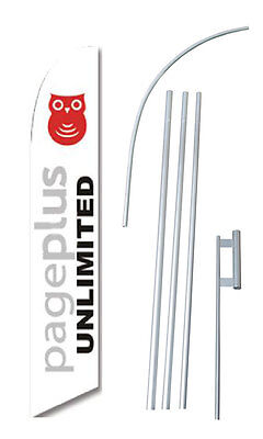 Pageplus Unlimmited Flag Banner Windless Swooper 15 Ft. Kit
