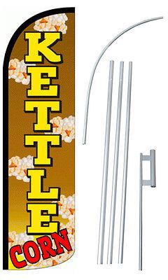 Kettle Corn Feather Flag Sign Blade Banner 30 Wider Super Swooper