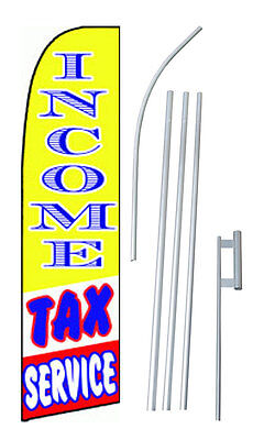 Income Tax Service Yellowbluered Extra Wide Swooper Flag Bundle