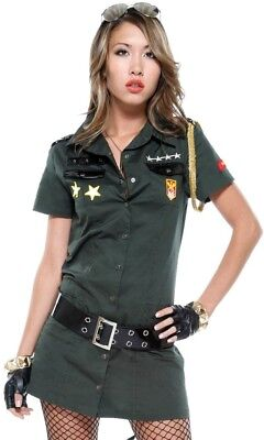 Forplay Ladies 2 Piece Army Seductress Costume, UK Size M/L 10-12, New. (Forplay Kostüme Uk)