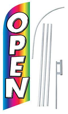 Open Rainbow Windless Swooper Flag Kit