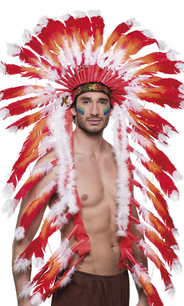 Indianer Kopfschmuck Hauptling Indianerfedern